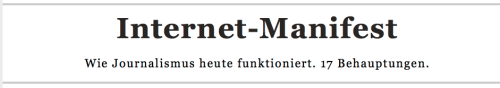 Internet Manifest